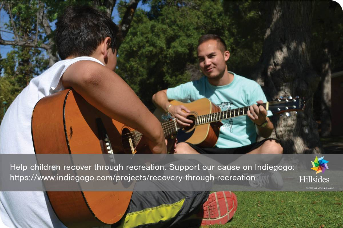 Indiegogo Recovery Through Recreation, a Hillsides campaign to bring healing to children in Los Angeles