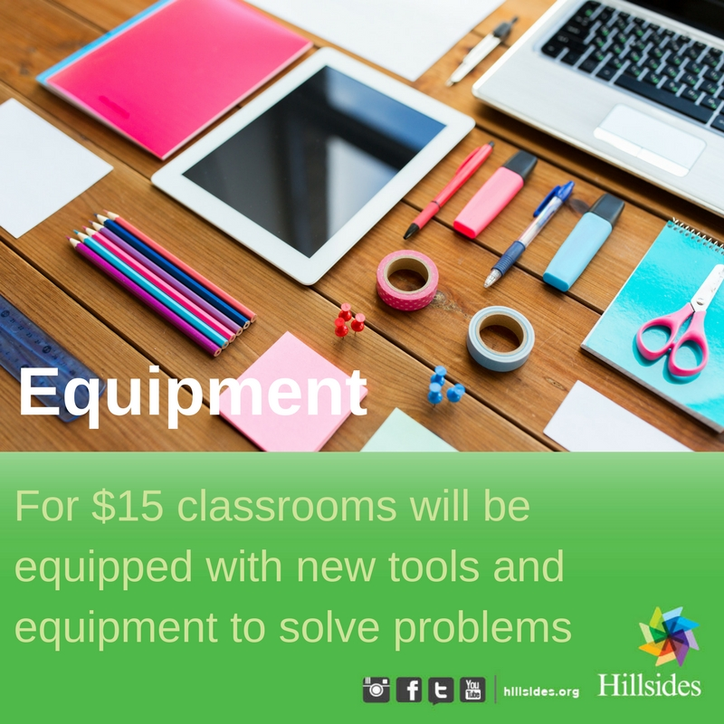 Equipment for classrooms for children and youth in foster care