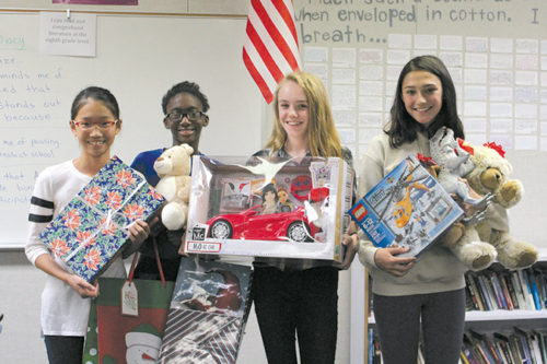Students from El Rodeo middle school in Beverly Hills volunteered their time and resources by organizing a holiday toy drive for Hillsides this past holiday season.